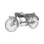 Miele K 50 51 52 53 Moped Mokick Chrom Felge 1,20 x 19 Zoll KTM DKW Dürkopp
