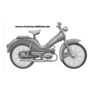 2x Stoßdämpfer Federbein für Oldtimer Moped NSU Zündapp Sachs DKW Kreidler